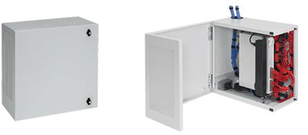 Hoffman DBL362412G 36 x 24 x 12 Inch Gray Wall Mount Cabinet L-Box
