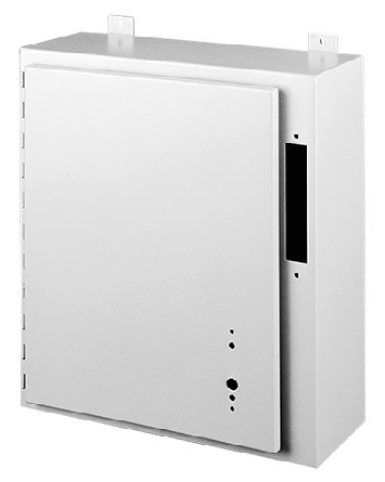 Hoffman A24AB2210LP 24 x 21.38 x 10 Inch White/Gray 14 Gauge Steel NEMA 12 Wall Mount Disconnect Enclosure