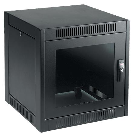 Hoffman ENC766SH 19 Inch Black Steel SOHO Network Cabinet
