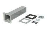 Hoffman F44LX 4 x 4 Inch Steel 90 Degrees Wireway Cut-Off