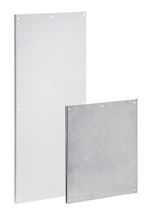 Mayer-Panels for Free-Stand Type 4, 4X and 12 Single- and Dual-Access One-Door Enclosures with Mounting Channel - A72P36F1-1