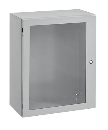Hoffman CSD24246WLG 24 x 24 x 6 Inch Light Gray 16 Gauge Steel NEMA 4/12 1-Door Wall Mount Enclosure