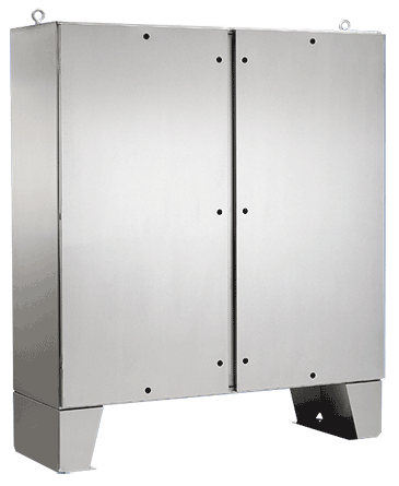Hoffman A72H6012SSLPQT Type 4X 2-Door Stainless Steel Enclosure