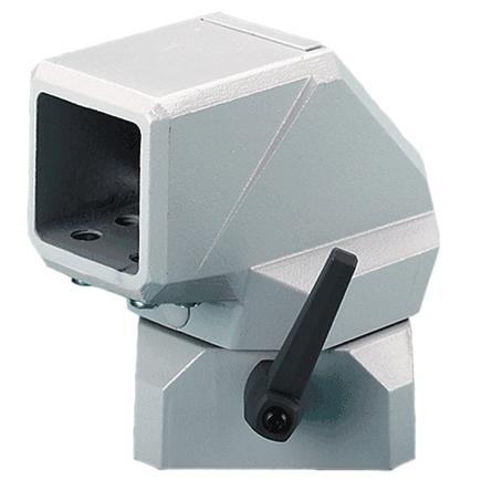 Hoffman CCS8FECLG COMPACT Series 4 Flange Elbow Coupling, fits 80x 80mm, Lt Gray, Aluminum