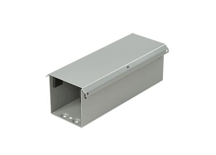 "Hoffman F66T3R120 Lay-In NEMA Type 3R Wireway Straight Section, 6"" x 6"" x 120"", Gray, Steel"