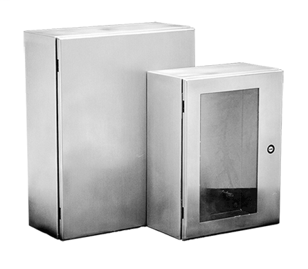 Hoffman CSD242410WSS 24 x 24 x 10 Inch 16 Gauge 304 Stainless Steel NEMA 4X 1-Door Wall Mount Enclosure