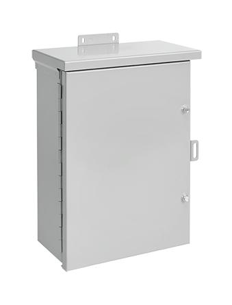 Hoffman A18R1810HCR 18 x 18 x 10 Inch Gray 16/14 Gauge Galvanized Steel NEMA 3R Enclosure Hinge Cover