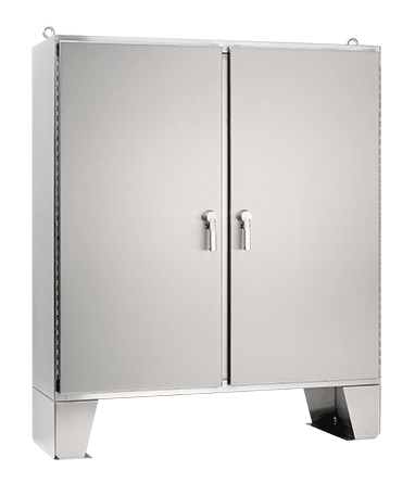 Hoffman A62H4818SSLP3PT 62.06 x 48.06 x 18.06 Inch 12 Gauge 304 Stainless Steel NEMA 4X 2-Door Enclosure with 3-Point Latch