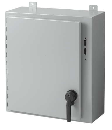 Hoffman A36SA3210LP 36 x 31.38 x 10 Inch White/Gray 14 Gauge Steel NEMA 12 Wall Mount Disconnect Enclosure