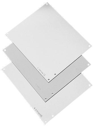 Hoffman A18P16G 16.75 x 14.88 Inch Galvanized Steel Enclosure Panel