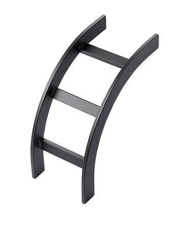 HOFFMAN Ladder Rack Curved Sections (cULus Classified) - LIB12BLK