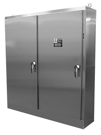 Hoffman A84XM4EW18SSN4 84.12 x 158 x 18.12 Inch 12 Gauge 304 Stainless Steel NEMA 4X 4-Door Disconnect Enclosure