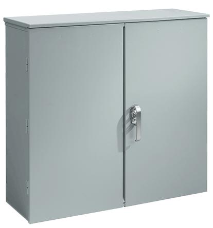 Hoffman A404014CTDP 40 x 40 x 14 Inch Steel Hinged Double Door