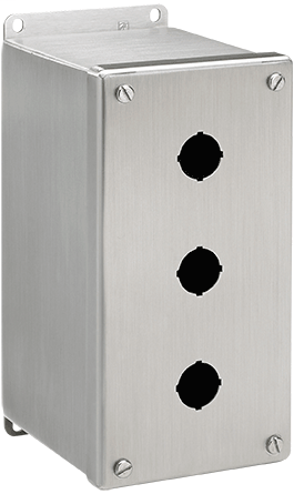 Hoffman E4PBXSS 10 x 4 x 4.75 Inch 304 Stainless Steel NEMA 4X Push Button Enclosure