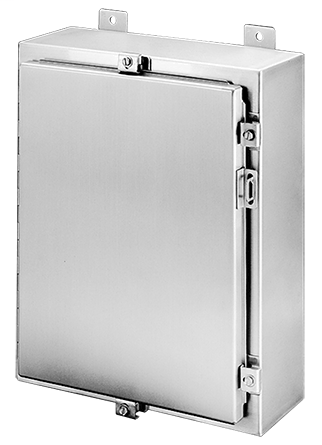 Hoffman A36H3010SS6LP 36 x 30 x 10 Inch 14 Gauge 316L Stainless Steel NEMA 4X Wall Mount Enclosure