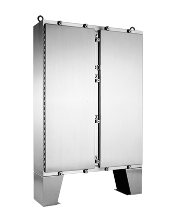 Hoffman A62H6012SS6LP 62.06 x 60.06 x 12.06 Inch 12 Gauge 316L Stainless Steel NEMA 4X 2-Door Wall Mount Enclosure