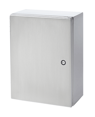 Hoffman CSD24248SS6 24 x 24 x 8 Inch 16 Gauge 316L Stainless Steel NEMA 4X 1-Door Wall Mount Enclosure