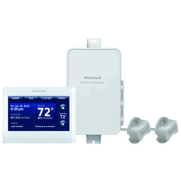 Prestige® 2-Wire IAQ Kit with high definition color touchscreen white front/white sides thermostat with RedLINK™ technology