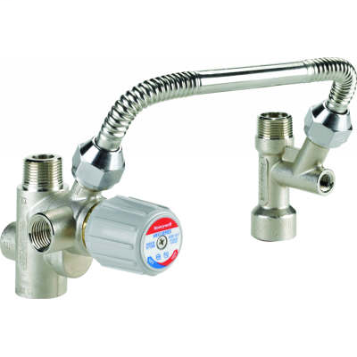 DirectConnect water heater kit including valve, tee, and 11 in. flex connector (low lead)