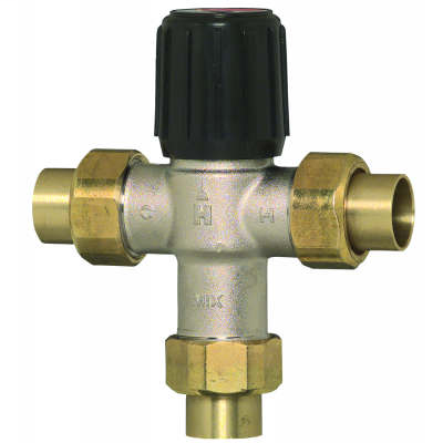 1 inch Sweat Union Mixing Valve, HEATING ONLY