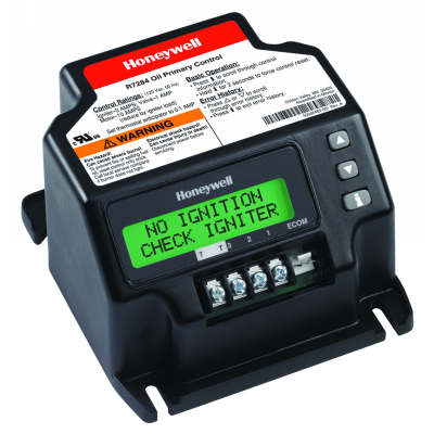 Universal electronic oil primary with programmable parameters and LCD display