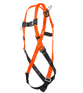 Sliding back D-ring; tongue buckle legs, mating buckle chest and shoulder straps; sub-pelvic strap - universal TF4500/UAK