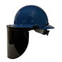 High performance faceshield bracket for use with full brim hat, E1 series, mount bracket (dielectric), plastic, fits most full brim hats FM71