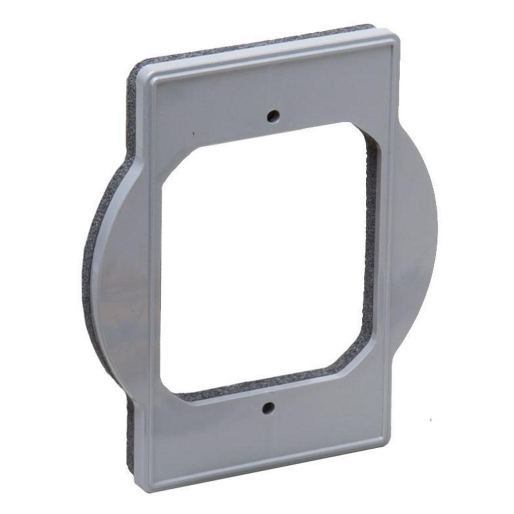 RACO PRBA400G 1-Hole Gray Plastic Round Weatherproof Box Extension Adapter