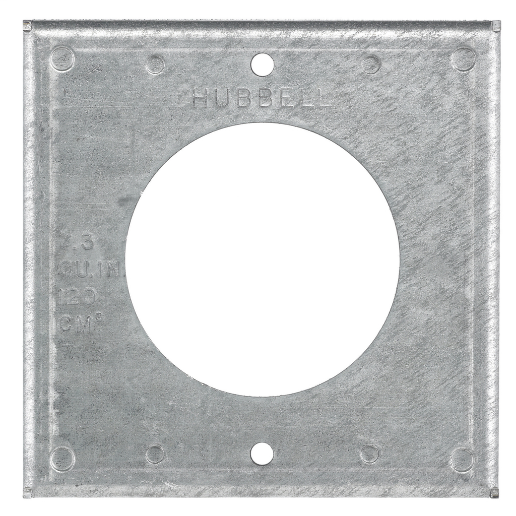 HUB HBL50SC SQ COVER PLATE FOR 50A