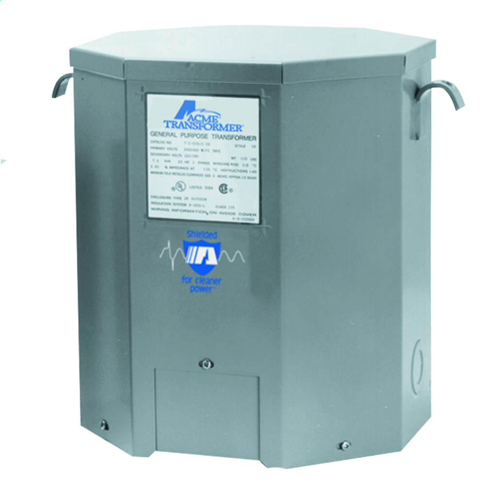 ACME T-2-535153-S SINGLE PHASE, 60 HZ 7-1/2 KVA 240 X 480 PRIMARY VOLTS 120/240 SECONDARY VOLTS - FOUR WINDINGS