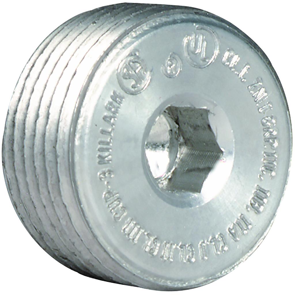 KLRK CUP-4 1-1/4 RECESSED HEAD PLUG