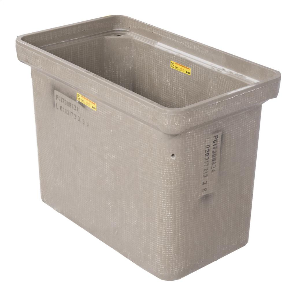 Quazite,PG1730BA24,BOX OB 17X30X24