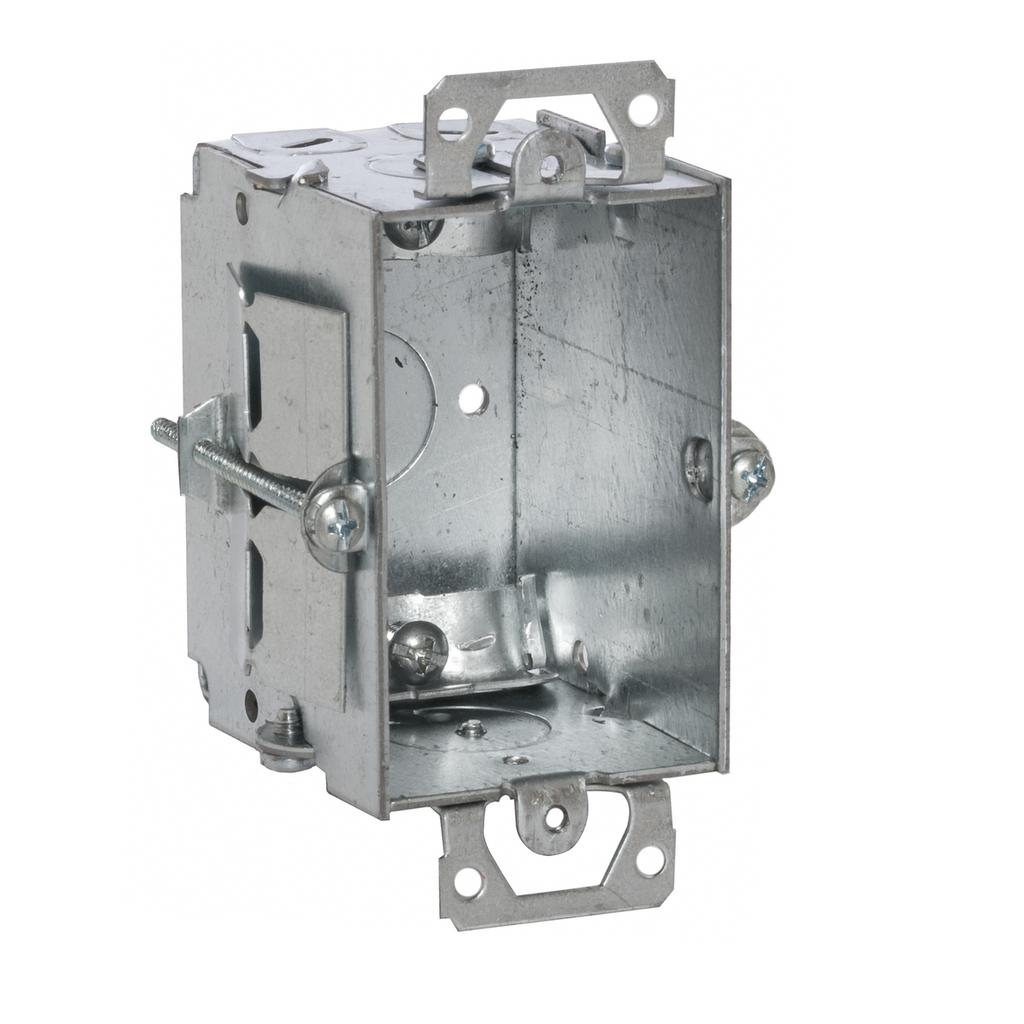 RACO 517 2 x 3 x 2-1/2 Inch 12.5 In Pre-Galvanized Steel Plaster Ear Mount Gangable Switch Box