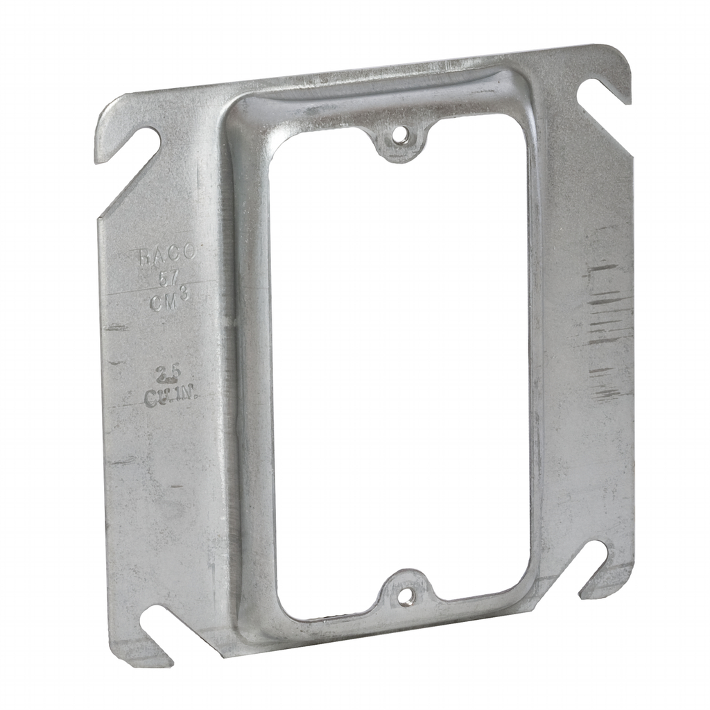 RACO 772 4-IN SQ 1/2D 1G SW RING ***