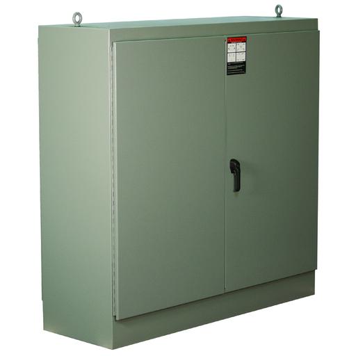 N12 Two Door Dual Access Freestanding 72X60X36 Carbon Steel - Gray