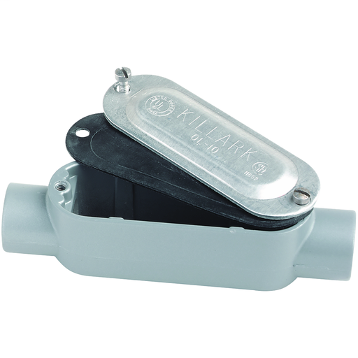 O Series/Duraloy 5 Series - Aluminum Conduit Body With Cover And Gasket- C Type - Hub Size 1/2 Inch - Volume 4.0 Cubic Inches