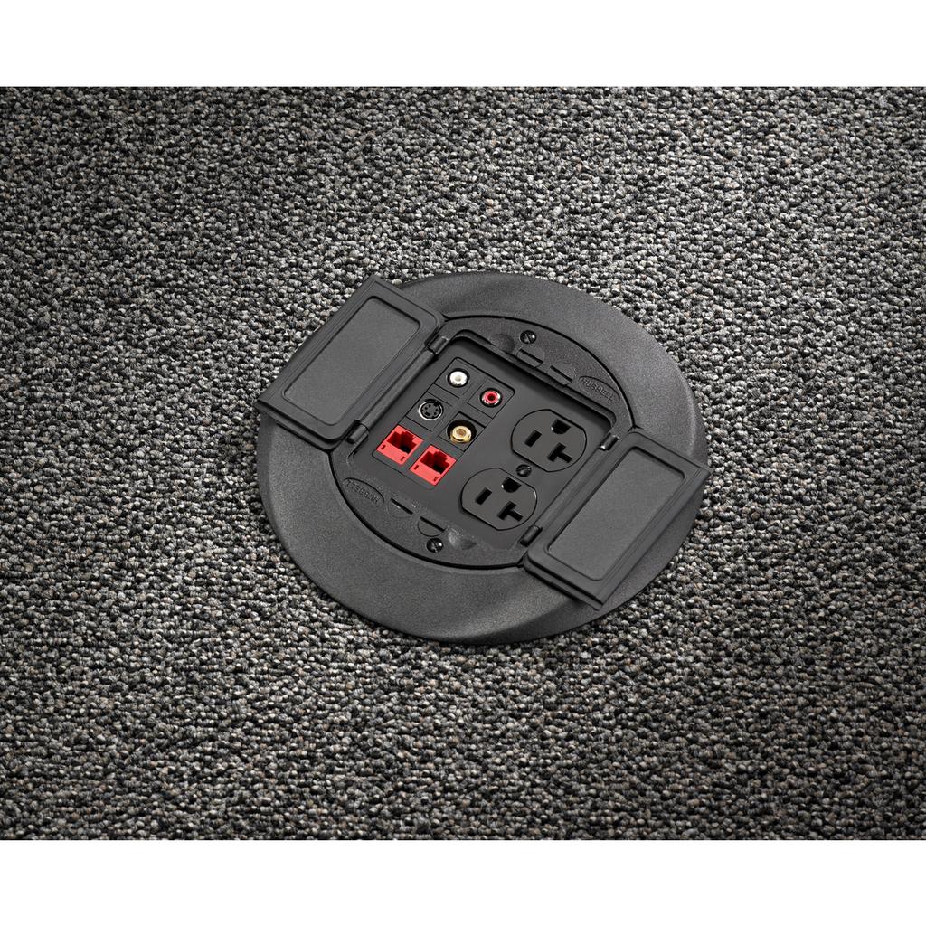 Hubbell Wiring Device-Kellems,S1CFCBL,FRPT, CARPET FLNG SYSTEM 1, BLACK