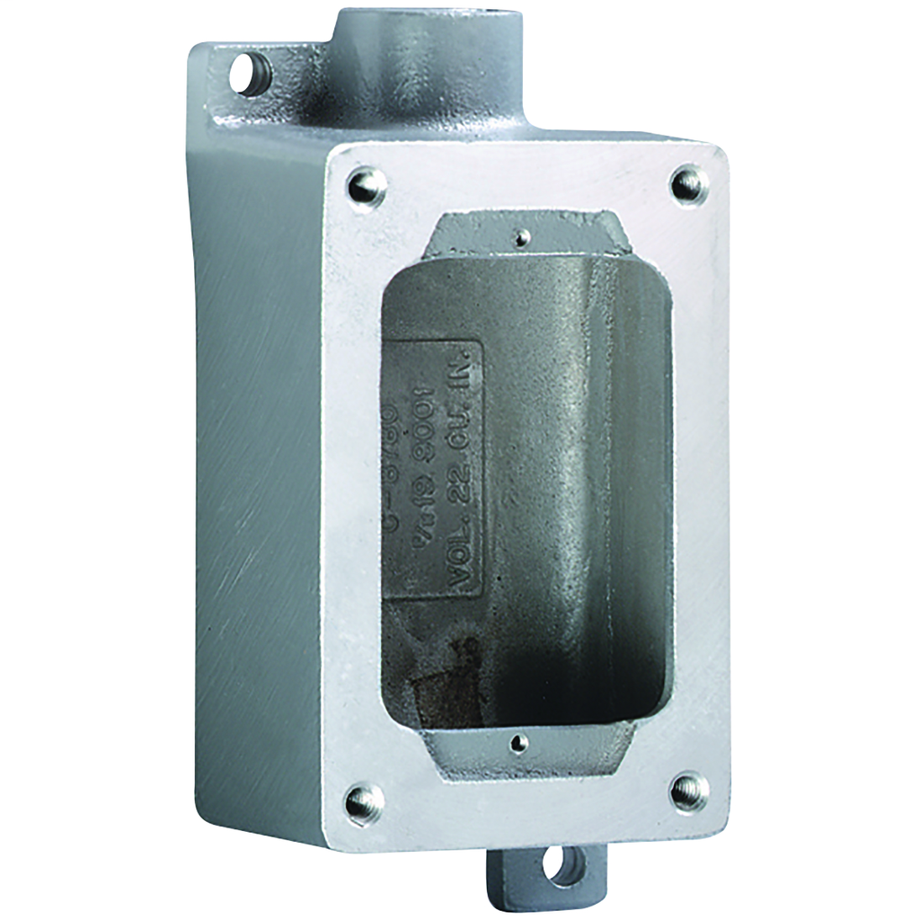 SWB Series - Aluminum Dead-End Single-Gang Device Body For Use With XCS/XS/XT Cover Assemblies - Hub Size 1/2 Inch
