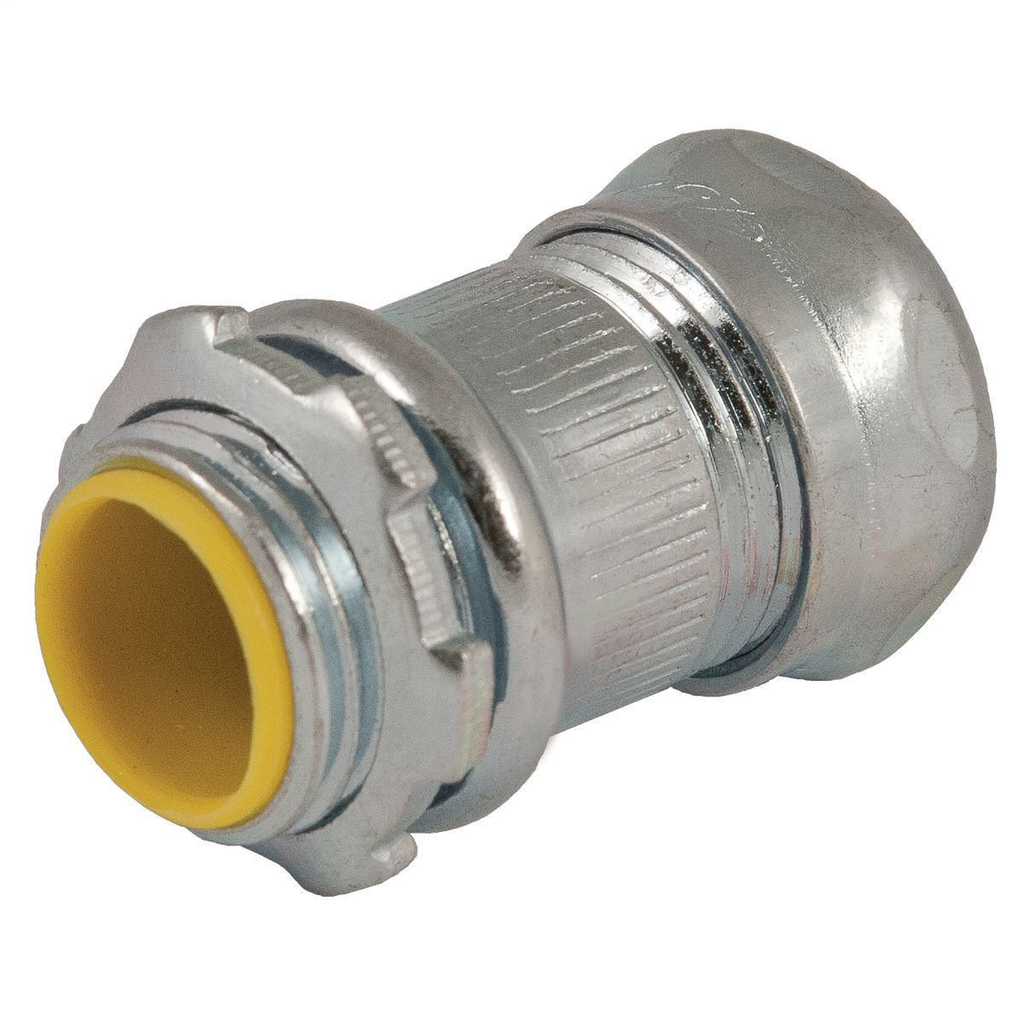 RACO,2912,EMT COMPR CONNECTOR INSUL 1/2 IN STEEL
