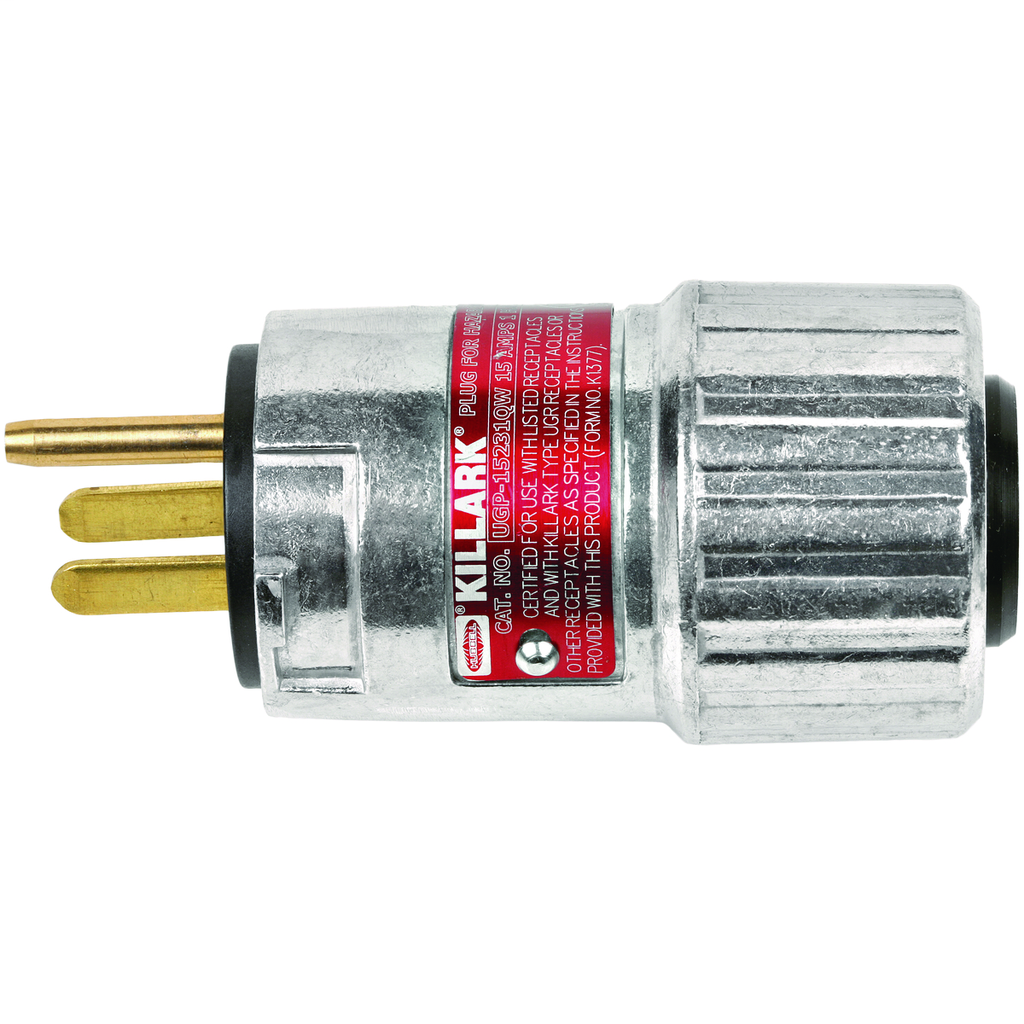 UGP Series - Aluminum 20 Amp 125VAC Interchangeable Blade Style Plug With Quick Wiring - NEMA Configuration 5-20P