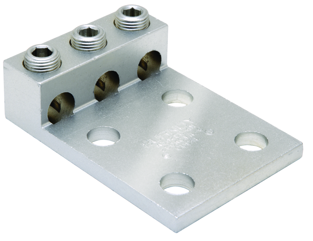 Burndy K3A27U4N 6 to 3/0 AWG Aluminum 4-Hole Dual Rated Universal Terminal Lug