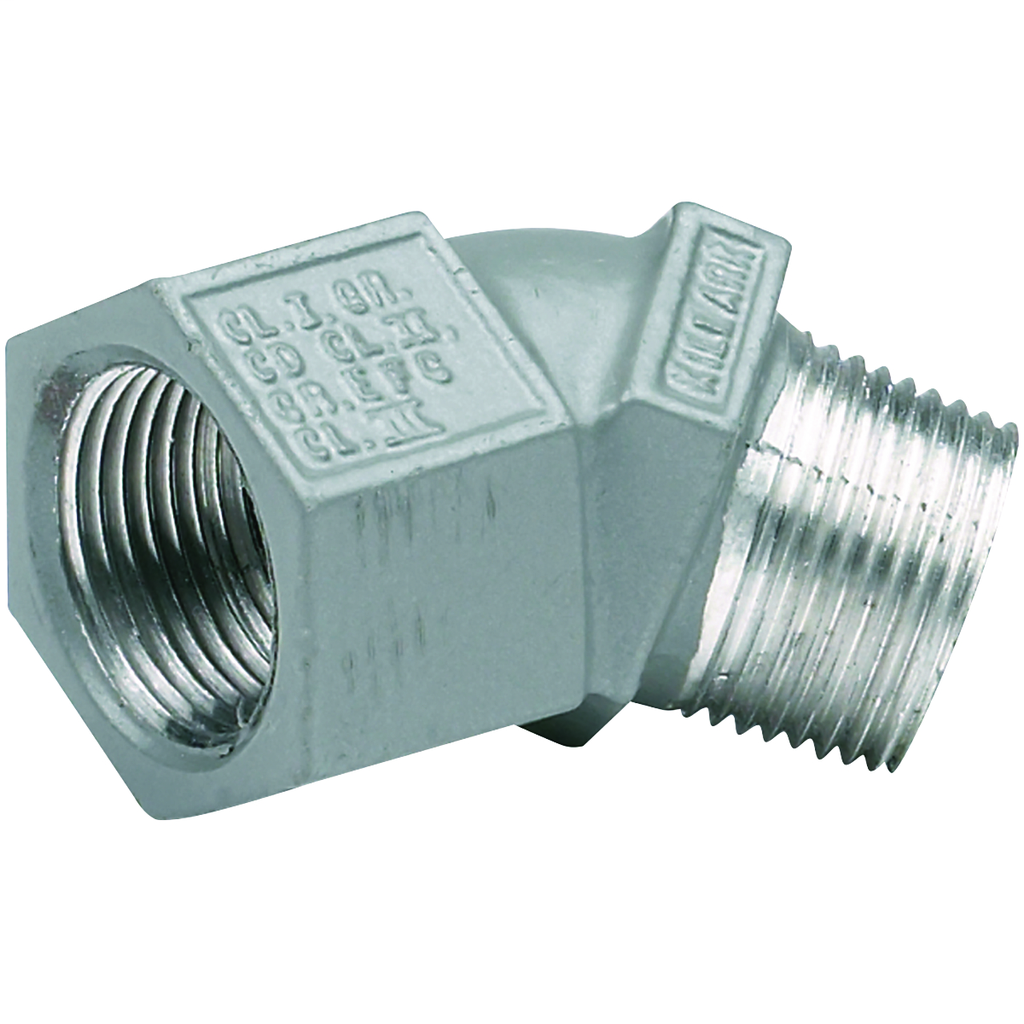 Hubbell Electrical Systems MF-45-2M 3/4 Inch Zinc Plated Iron Male to Female 45 Degrees Conduit Elbow