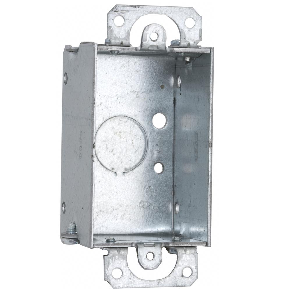 1-1/2 in. Deep Switch Box - Gangable with Conduit KO's Plaster Ears