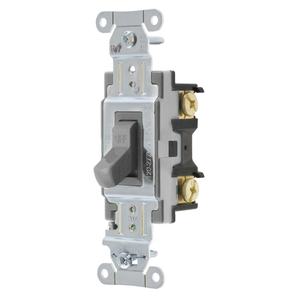 HUB CS120GY SWITCH SPECGRADE SP 20A 120/277V GY