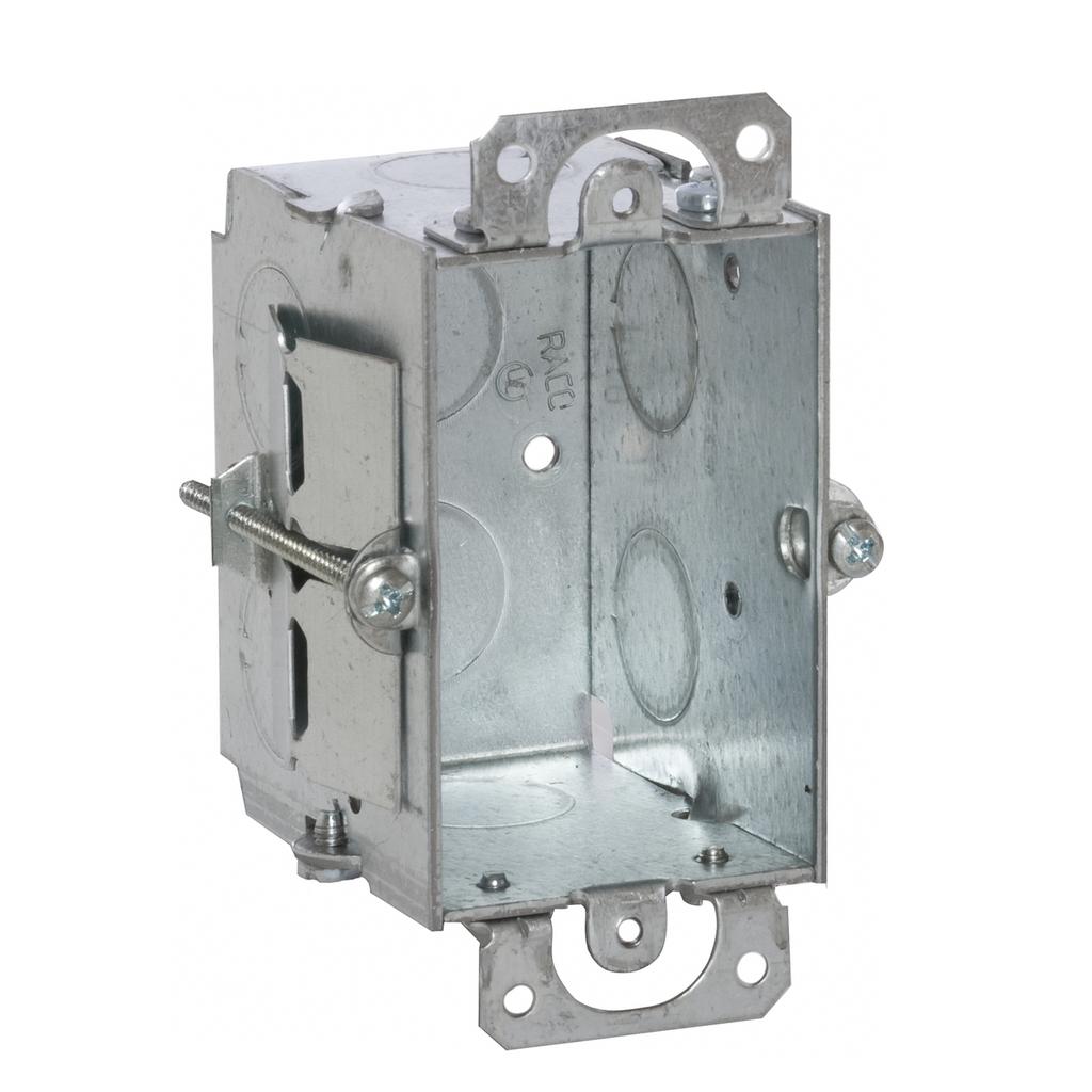 Raco 506 3 x 2 x 2-1/2 Inch 12.5 In Steel Gangable Switch Box