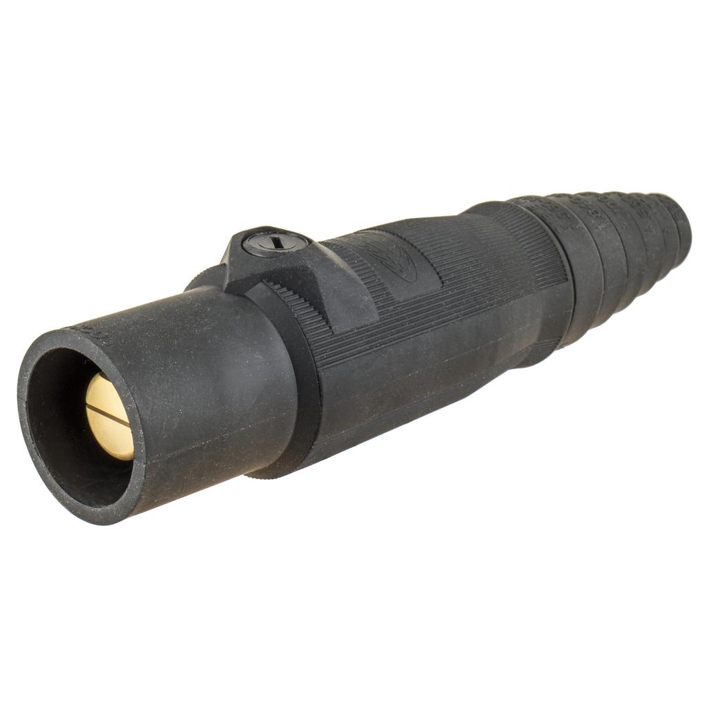 400 Amp Male Plug, Black