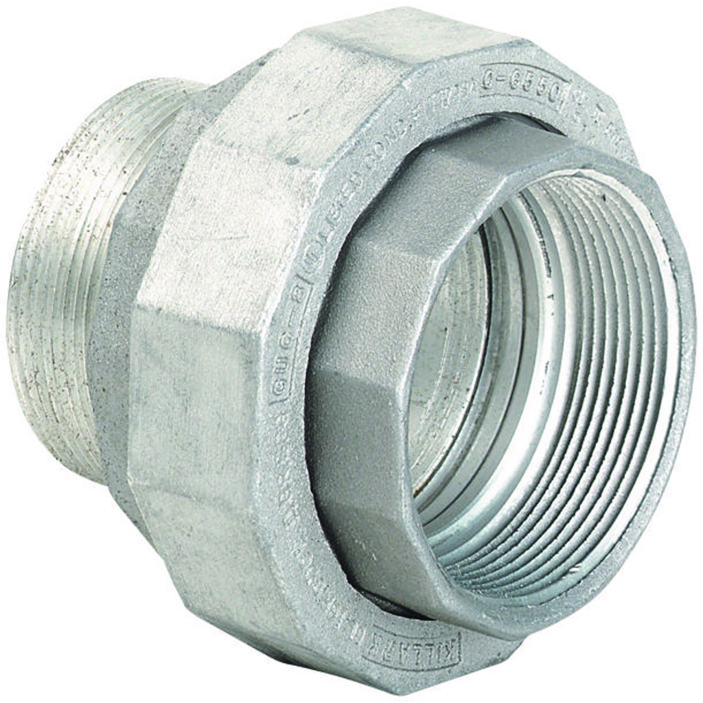 Hubbell Electrical Systems UNY5 1-1/2 Inch Zinc Plated Iron Male to Female Conduit Union