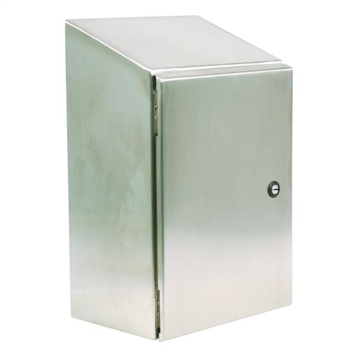 N412 Single Door Slope-Top Ultimate 20X20X12 304 Stainless Steel