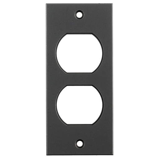 Floor and Wall Boxes, MULTI-CONNECT System, Face Plate, Screw Mount, Duplex, Black