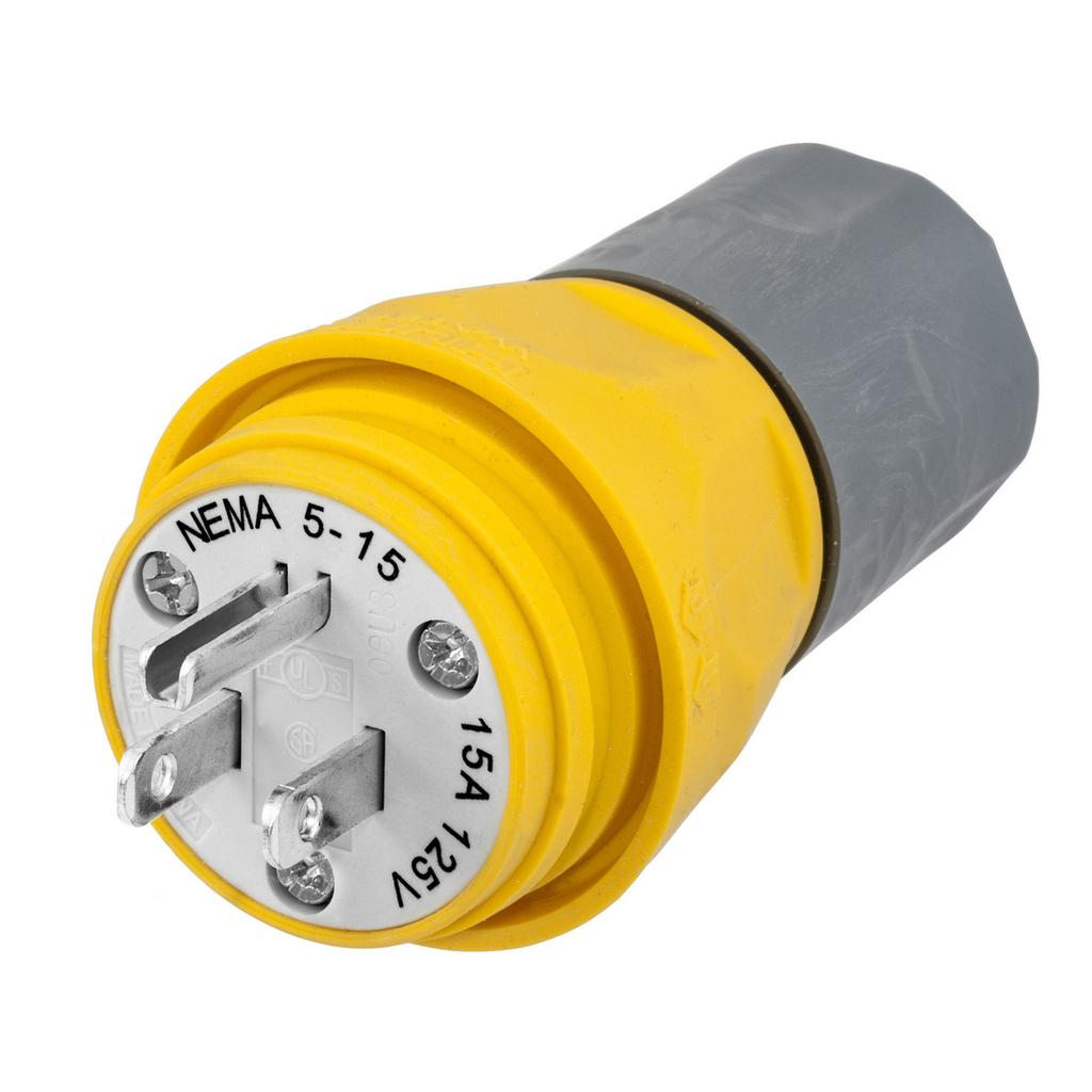 HUB HBL14W47A WATERTIGHT PLUG NEMA 5-15P, 15A/125V